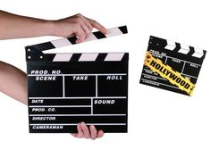 Film Klapbord. Hollywood komt tot leven! Waan je in de wereld van de grote regisseurs met dit zwarte film klapbord uit hout.