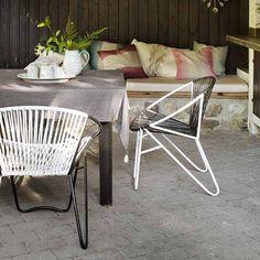 Gartenstuhl Eisen weiß/schwarz von Nordal