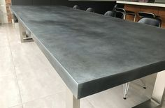 Contemporary Zinc Furniture - Zinc Tables - Zinc Top Dining Table