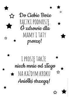 Plakat z modlitwą Do Ciebie Boże Kids Room Design, Baby Time, Quote Posters, Kids And Parenting, Motto, Picture Quotes, Bible Verses, Decoration, Funny Quotes