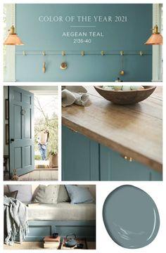 Interior Paint Colors, Paint Colors For Home, Teal Paint Colors, Hallway Paint Colors, Office Paint Colors, House Paint Interior, Paint Color Schemes, Wood Furniture Paint Colors, Paint Colors For Bathrooms