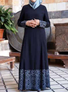SHUKR USA   Tasnim Printed Dress ♥ Muslimah fashion & hijab style