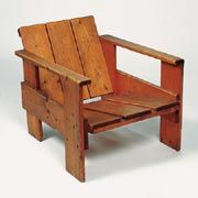 Chapter 23 - De Stijl - Furniture - Crate chair; 1934, By Gerrit Thomas Rietveld