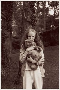 Grace Coddington with Pumpking.  Love it.
