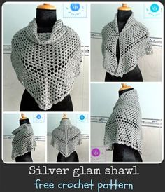 This is a great free crochet shawl pattern. Silver glam shawl - Media - Crochet Me