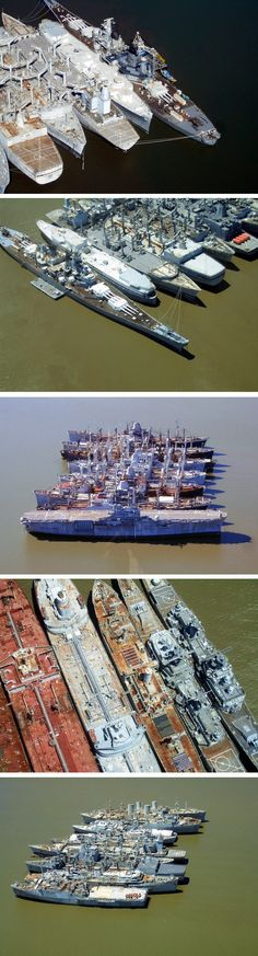 ghost-fleet-suisun-bay-One of the world's most impressive – and powerful – still-floating ship graveyards, meanwhile, is America's National Defense Reserve Fleet, also known as the 'Ghost Fleet', which has been based in California's Suisun Bay, near San Francisco, since the 1950s.