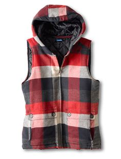KAVU is true outdoorwear. Outdoor Brands, Outdoor Woman, Red Plaid, Fitness Fashion, Style Guides, Vest, Stylish, Womens Fashion, Clothes