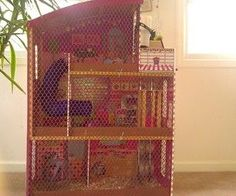 How to make guinea pig/hamster cage from a dollhouse i wish i had thought of this..