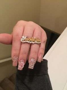 Gold or silver Avail. Choose what Hand and Ring size Put info in note to seller Choose 2 finger sizes - Online Store Powered by Storenvy Silver Nails, Bling Nails, My Nails, Cute Nails, Pretty Nails, American Nails, Glamour Nails, Christmas Manicure, Halloween Nail Art