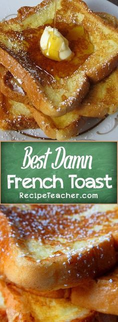 How To Make French Toast. How to make French Toast. The perfect recipe for classic French Toast. Breakfast Desayunos, Breakfast Dishes, Yummy Breakfast Ideas, Breakfast Casserole, Breakfast Food Recipes, Breakfast Healthy, Best Breakfast Foods, Comfort Food Recipes, Recipes For Dinner