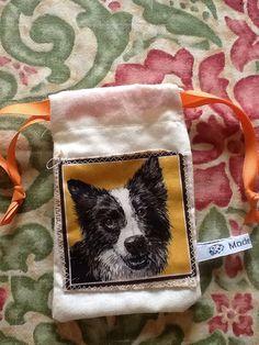 Dog doggy treat bag - border collie on Etsy, £3.75