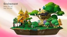 Cartoon forest free 3D Model Game ready by runsystem