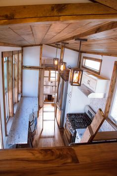A 310 square feet tiny house built by Alpine Tiny Homes in Vineyard, Utah.