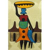 Found it at Wayfair - Handcrafted African Threadwork of Village Scene by Ernestina Oppong Asante Wall Art