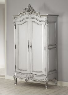 La Rochelle Antique French Silver Wardrobe