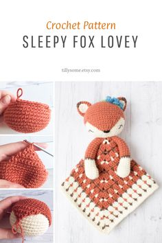Crochet Baby Toys, Crochet Fox, Manta Crochet, Crochet For Kids, Crochet Crafts, Crochet Dolls, Baby Knitting, Crochet Projects, Things To Crochet