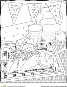 Enjoy these Fiesta Coloring Pages, many of them free
