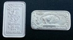 Bullion Bank 1/20 oz Silver Bar + 1 Gram Buffalo Silver Bar .999 Fine Silver