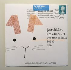 pushing the envelopes: Apr PTEX from Tina - May from Robert Mail Art Envelopes, Cute Envelopes, Decorated Envelopes, Addressing Envelopes, Envelope Lettering, Envelope Art, Envelope Design, Hand Lettering, Washi Tape
