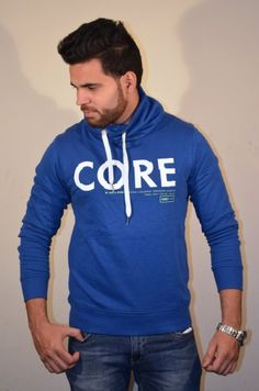 Beat the chill in style this winter season by wearing this blue sweatshirt by Jack & Jones. While the stunning print on the front adds sophistication to this regular-fit creation, the cotton fabric promises warmth and extreme comfort. Ideal for casual wear, it will look great when clubbed with a pair of denims and sneakers.    Type Sweatshirts   Fabric Cotton   Sleeves Full Sleeve   Neck High Neck   Wash Care Dark Colours To Be Washed Separately   Fit Regular   C