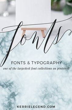 Fonts & typography - one of the biggest collections of fonts and font love on Pinterest! #fonts #fontspiration #typography #typographyinspired #font #fontpairing