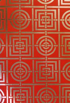 #yearofpattern florence broadhurst, circles and squares