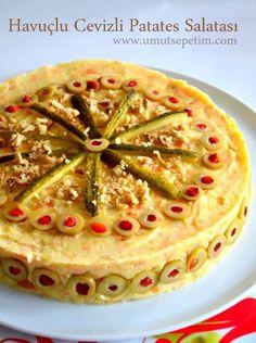 havuçlu patates salatası tarifi Turkish Salad, Turkish Recipes, Recipe For 4, Vintage Recipes, Food Art, Salad Recipes, Side Dishes, Food And Drink, Appetizers