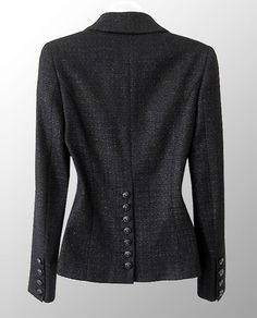 CHANEL 2009 Black Sparkle Boucle Jacket - site Chaneljackets has lots of listings for inspiration