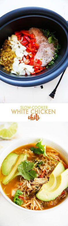 Slow-Cooker White Chicken Chili | Lexi's Clean Kitchen