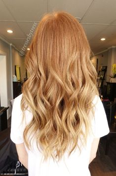 Image result for ginger to blonde balayage
