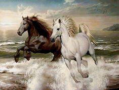 Пара лошадей - Схемы вышивки - квака - Авторы - Портал «Вышивка крестом»