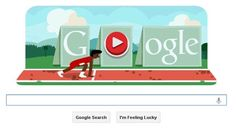 Haven't felt Olympics frenzy yet? The newest Google Doodle will have you up and running. Jump over the hurdles by pressing the space bar, and use the arrow keys to speed up in this Doodle honoring the London 2012 Olympics.
