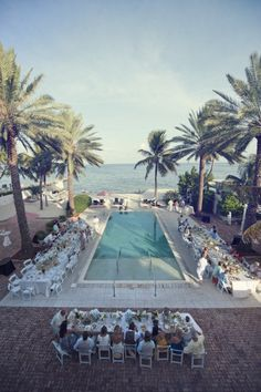 Southernmost House (FL) poolside reception.