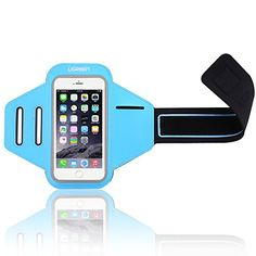UGREEN Sport Armband Water Resistant, With Key Holder and Earphone Jack, Sport Running Armband Case for iPhone 7,7plus,6plus, 6, 6s, LG, Samsung, Blue for 5.5 Inch Phones *** You can get additional details at the image link.