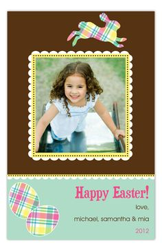 Patterned Easter Photo Card #Easter