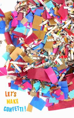 How to make confetti in minutes!  super easy to make and super easy to throw!
