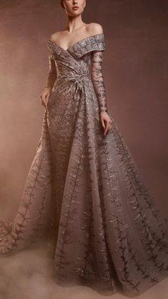 Ball Dresses, Ball Gowns, Evening Dresses, Prom Dresses, Evening Gowns Couture, Jumpsuit Dress, I Dress, Taupe Wedding, Jordan Dress