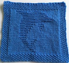 Free Knitting Pattern for Dolphin Cloth Square - Leaping dolphin square. Great as a dishcloth or with other squares to form a blanket. Both chart and written pattern. Approximately 22 cm x 22 cm inches x inches) Designed by Daisy and Storm Knitted Squares Pattern, Knitted Dishcloth Patterns Free, Knitting Squares, Knitted Washcloths, Animal Knitting Patterns, Knit Dishcloth, Knitted Blankets, Free Knitting, Knitting Needles