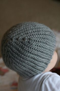 knit look crochet stretchy hat
