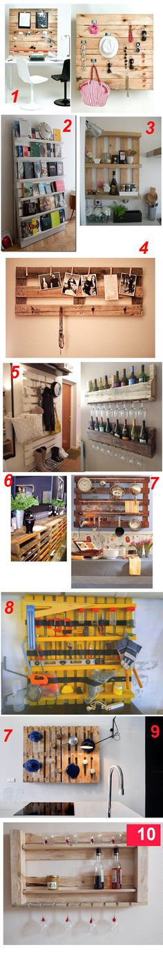Estanterías de Palets [Palets] | youloveapple #palets #pallets #palletfurniture…