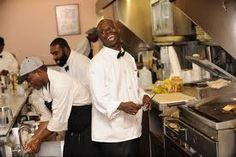 Camellia Grille, French Quarter. Happiest cooks and servers on the planet. Best southern breakfast ever with flapjacks!