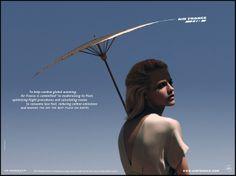 Affiche publicité Air France Parasol