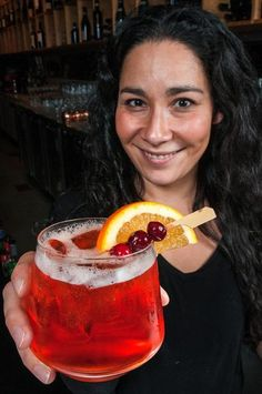 ... makes a drink called The Cranberry Negroni for the holidays