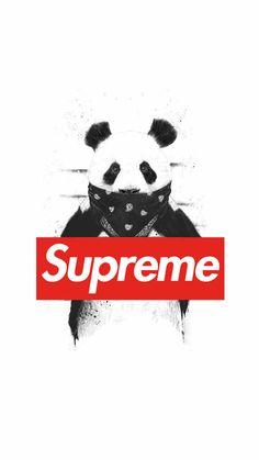 Panda x Supreme Supreme Iphone Wallpaper, Hype Wallpaper, Wallpaper Maker, Cool Wallpaper, Mobile Wallpaper, Wallpaper Backgrounds, Panda Wallpaper Iphone, Phone Backgrounds, Supreme Brand
