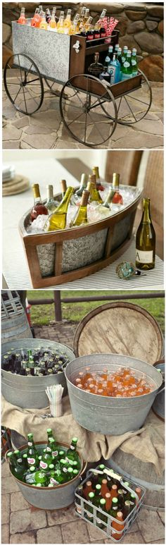 Wedding ●  Beverage Serving Ideas ● Items from Pottery Barn