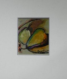 Nancy Bossert Artworks, Pear Dips, oil on paper