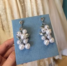 Zoe earrings in silver David Tutera Embellish Wedding Jewelry