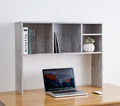 Shop at DormCo for upper desk shelving like The College Cube - Dorm Desk Bookshelf - White. This dorm essentials item has shelves across the top to keep college textbooks, notebooks, and more organized when you don't have upper desk shelves. Bookshelf Organization, Bookshelf Desk, Dorm Room Organization, Desk Storage, Storage Ideas, Organization Ideas, Cube Desk, Bed Shelves, Shelving