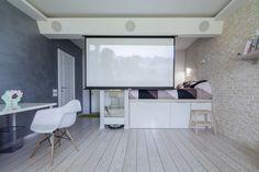 Квартира 42м2 молодой пары, просторный светлый декор, нетрадиционные организация пространства - тенденции обустройства дома журнал
