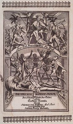 Dance of Death, also variously called Danse Macabre, Dança de la Mòrt , Danza Macabra or Totentanz is a late-medieval allegory on the universality of death. Here you can see images and poetry about death and dying Memento Mori, La Danse Macabre, Macabre Art, Antique Illustration, Illustration Art, Dance Of Death, Arte Obscura, Angels And Demons, Vanitas